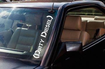 ' Dirty Diesel ' Large Diesel powered car windscreen stickers decals - Turbo Diesel car sticker
